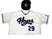The Hillsboro Hops home uniform.
