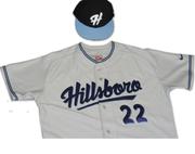 The Hillsboro Hops road uniforms.