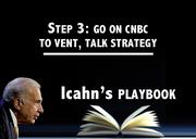 "Carl Icahn used interviews on CNBC to lash out at the management and boards of Mentor Graphics and Netflix in his effort to agitate for change. In a Nov. 8 interview, he called Netflix's adoption of the poison pill ""reprehensible"" and a ""travesty in corporate governance."" In discussing Mentor Graphics, he said it was a ""sleepy company run like a country club."""