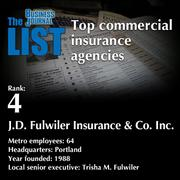 4: J.D. Fulwiler Insurance & Co. Inc.  The full list ofcommercial insurance agencies- including contact information -is available to PBJ subscribers.  Not a subscriber? Sign up for a free 4-week trial subscription to view this list and more today >>