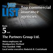 5 (tied): The Partners Group Ltd.  The full list ofcommercial insurance agencies- including contact information -is available to PBJ subscribers.  Not a subscriber? Sign up for a free 4-week trial subscription to view this list and more today >>