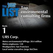 1: URS Corp.  The full list ofenvironmental consultingfirms- including contact information -is available to PBJ subscribers.  Not a subscriber? Sign up for a free 4-week trial subscription to view this list and more today >>