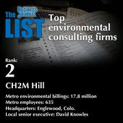 2:CH2M Hill  The full list ofenvironmental consultingfirms- including contact information -is available to PBJ subscribers.  Not a subscriber? Sign up for a free 4-week trial subscription to view this list and more today >>
