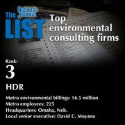 3: HDR  The full list ofenvironmental consultingfirms- including contact information -is available to PBJ subscribers.  Not a subscriber? Sign up for a free 4-week trial subscription to view this list and more today >>
