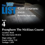 4:Pronghorn The Nicklaus Course  The full list oftop area golf courses- including contact information -is available to PBJ subscribers.  Not a subscriber? Sign up for a free 4-week trial subscription to view this list and more today >>