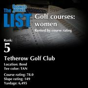 5:Tetherow Golf ClubThe full list of top area golf courses - including contact information -isavailable to PBJ subscribers.Not a subscriber?Sign up for a free 4-week trial subscription to view this list and more today >>