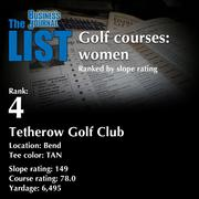 4:Tetherow Golf ClubThe full list of top area golf courses - including contact information -isavailable to PBJ subscribers.Not a subscriber?Sign up for a free 4-week trial subscription to view this list and more today >>