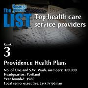 3:Providence Health Plans  The full list ofhealth care service providers- including contact information -is available to PBJ subscribers.  Not a subscriber? Sign up for a free 4-week trial subscription to view this list and more today >>