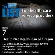7:Health Net Health Plan of OregonThe full list ofhealth care service providers - including contact information -isavailable to PBJ subscribers.Not a subscriber?Sign up for a free 4-week trial subscription to view this list and more today >>