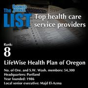 8:LifeWise Health Plan of OregonThe full list ofhealth care service providers - including contact information -isavailable to PBJ subscribers.Not a subscriber?Sign up for a free 4-week trial subscription to view this list and more today >>