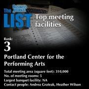 3: Portland Center for the Performing ArtsThe full list of meeting facilities - including contact information - is available to PBJ subscribers.Not a subscriber? Sign up for a free 4-week trial subscription to view this list and more today >>