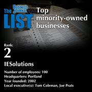 2: IESolutionsThe full list of minority-owned businesses - including contact information - is available to PBJ subscribers.Not a subscriber? Sign up for a free 4-week trial subscription to view this list and more today >>