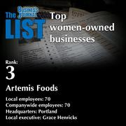 3:Artemis Foods  The full list ofwomen-owned businesses- including contact information -is available to PBJ subscribers.  Not a subscriber? Sign up for a free 4-week trial subscription to view this list and more today >>