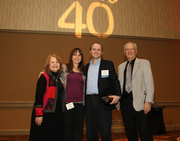 Lincoln Bach's family turned out during today's Portland Business Journal 40 Under 40 awards to support their favorite timber investment pro (who's second from the right).