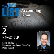 2: KPMG LLP  The full list oftop regionalaccountingfirms– including contact information – is available to PBJ subscribers.  Not a subscriber? Sign up for a free 4-week trial subscription to view this list and more today >>