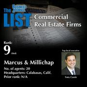 9: Marcus & Millichap  The full list of regional commercial real estate firms – including contact information – is available to PBJ subscribers.  Not a subscriber? Sign up for a free 4-week trial subscription to view this list and more today >>