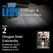 2: Oregon State University  The full list of regional colleges & universities – including contact information – is available to PBJ subscribers.  Not a subscriber? Sign up for a free 4-week trial subscription to view this list and more today >>