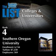 4: Southern Oregon University  The full list of regional colleges & universities – including contact information – is available to PBJ subscribers.  Not a subscriber? Sign up for a free 4-week trial subscription to view this list and more today >>
