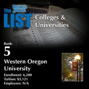 5: Western Oregon University  The full list of regional colleges & universities – including contact information – is available to PBJ subscribers.  Not a subscriber? Sign up for a free 4-week trial subscription to view this list and more today >>