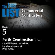 5: Fortis Construction Inc.  The full list of regional commercial contractors – including contact information – is available to PBJ subscribers.  Not a subscriber? Sign up for a free 4-week trial subscription to view this list and more today >>