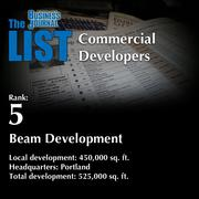 5: Beam Development  The full list of top regional commercial developers – including contact information – is available to PBJ subscribers.  Not a subscriber? Sign up for a free 4-week trial subscription to view this list and more today >>