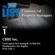 1: CBRE Inc.  The full list of regional commercial property managers – including contact information – is available to PBJ subscribers.  Not a subscriber? Sign up for a free 4-week trial subscription to view this list and more today >>