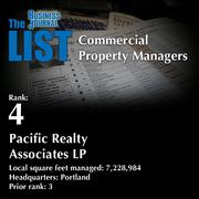 4: Pacific Realty Associates LP  The full list of regional commercial property managers – including contact information – is available to PBJ subscribers.  Not a subscriber? Sign up for a free 4-week trial subscription to view this list and more today >>