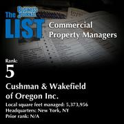 5: Cushman & Wakefield of Oregon Inc.  The full list of regional commercial property managers – including contact information – is available to PBJ subscribers.  Not a subscriber? Sign up for a free 4-week trial subscription to view this list and more today >>