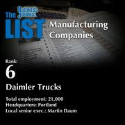 6: Daimler Trucks The full list of topmanufacturingcompanies – including contact information – is available to PBJ subscribers. Not a subscriber? Sign up for a free 4-week trial subscription to view this list and more today >>