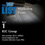 1: R2C Group  The full list ofregionalmarketing firms- including contact information -is available to PBJ subscribers.  Not a subscriber? Sign up for a free 4-week trial subscription to view this list and more today >>