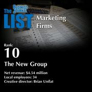 10: The New Group The full list of regional marketing firms - including contact information - is available to PBJ subscribers. Not a subscriber? Sign up for a free 4-week trial subscription to view this list and more today >>