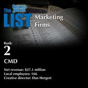 2: CMD  The full list ofregionalmarketing firms- including contact information -is available to PBJ subscribers.  Not a subscriber? Sign up for a free 4-week trial subscription to view this list and more today >>