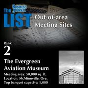 2: The Evergreen Aviation Museum  The full list ofout-of-area meeting sites– including contact information – is available to PBJ subscribers.  Not a subscriber? Sign up for a free 4-week trial subscription to view this list and more today >>