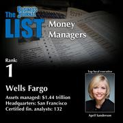 1: Wells Fargo  The full list of regional money managers – including contact information – is available to PBJ subscribers.  Not a subscriber? Sign up for a free 4-week trial subscription to view this list and more today >>