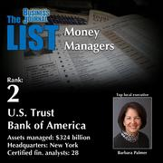 2: U.S. Trust Bank of America  The full list of regional money managers – including contact information – is available to PBJ subscribers.  Not a subscriber? Sign up for a free 4-week trial subscription to view this list and more today >>