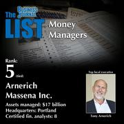 5 (tied): Arnerich Massena Inc.  The full list of regional money managers – including contact information – is available to PBJ subscribers.  Not a subscriber? Sign up for a free 4-week trial subscription to view this list and more today >>