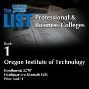 1: Oregon Institute of Technology  The full list oftopprofessional & business colleges– including contact information – is available to PBJ subscribers.  Not a subscriber? Sign up for a free 4-week trial subscription to view this list and more today >>