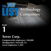 1: Xerox Corp.  The full list of regional technology companies – including contact information – is available to PBJ subscribers.  Not a subscriber? Sign up for a free 4-week trial subscription to view this list and more today >>