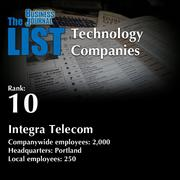 10: Integra Telecom  The full list of regional technology companies – including contact information – is available to PBJ subscribers.  Not a subscriber? Sign up for a free 4-week trial subscription to view this list and more today >>