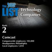 2: Comcast  The full list of regional technology companies – including contact information – is available to PBJ subscribers.  Not a subscriber? Sign up for a free 4-week trial subscription to view this list and more today >>