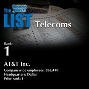 1: AT&T Inc.  The full list of regional telecoms – including contact information – is available to PBJ subscribers.  Not a subscriber? Sign up for a free 4-week trial subscription to view this list and more today >>