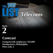 2: Comcast  The full list of regional telecoms – including contact information – is available to PBJ subscribers.  Not a subscriber? Sign up for a free 4-week trial subscription to view this list and more today >>