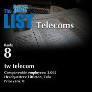 8: tw telecom  The full list of regional telecoms – including contact information – is available to PBJ subscribers.  Not a subscriber? Sign up for a free 4-week trial subscription to view this list and more today >>