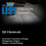QE ChemicalsThe full list of university spinoffs – including contact information – is available to PBJ subscribers.Not a subscriber? Sign up for a free 4-week trial subscription to view this list and more today >>