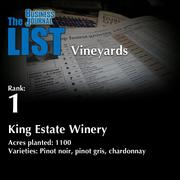 1: King Estate Winery  The full list of regional wineries – including contact information – is available to PBJ subscribers.  Not a subscriber? Sign up for a free 4-week trial subscription to view this list and more today >>