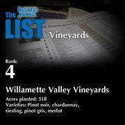 4: Willamette Valley Vineyards  The full list of regional wineries – including contact information – is available to PBJ subscribers.  Not a subscriber? Sign up for a free 4-week trial subscription to view this list and more today >>