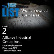 2: Alliance Industrial Group Inc.  The full list of regional women-owned businesses – including contact information – is available to PBJ subscribers.  Not a subscriber? Sign up for a free 4-week trial subscription to view this list and more today >>