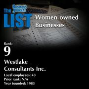 9: Westlake Consultants Inc.  The full list of regional women-owned businesses – including contact information – is available to PBJ subscribers.  Not a subscriber? Sign up for a free 4-week trial subscription to view this list and more today >>
