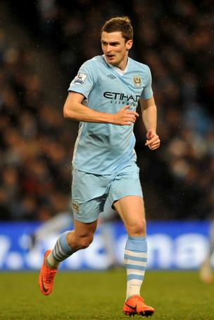 Manchester City midfielder Adam Johnson now wears Umbro. But the club will be switching to parent brand Nike starting with the 2013-14 season.