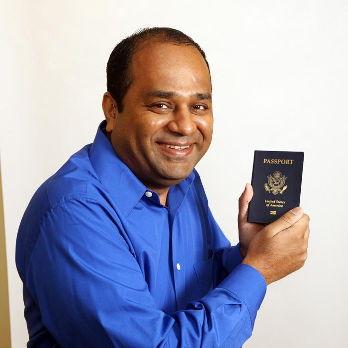 VendScreen's Paresh Patel said he treasures his passport because, as a naturalized U.S. citizen, it signifies how much he loves his adopted country.